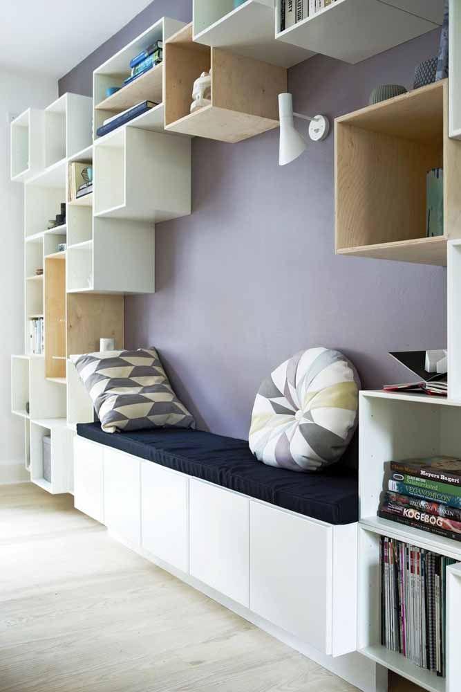 O detalhe na cor lilás pode fazer toda a diferença em uma decoração