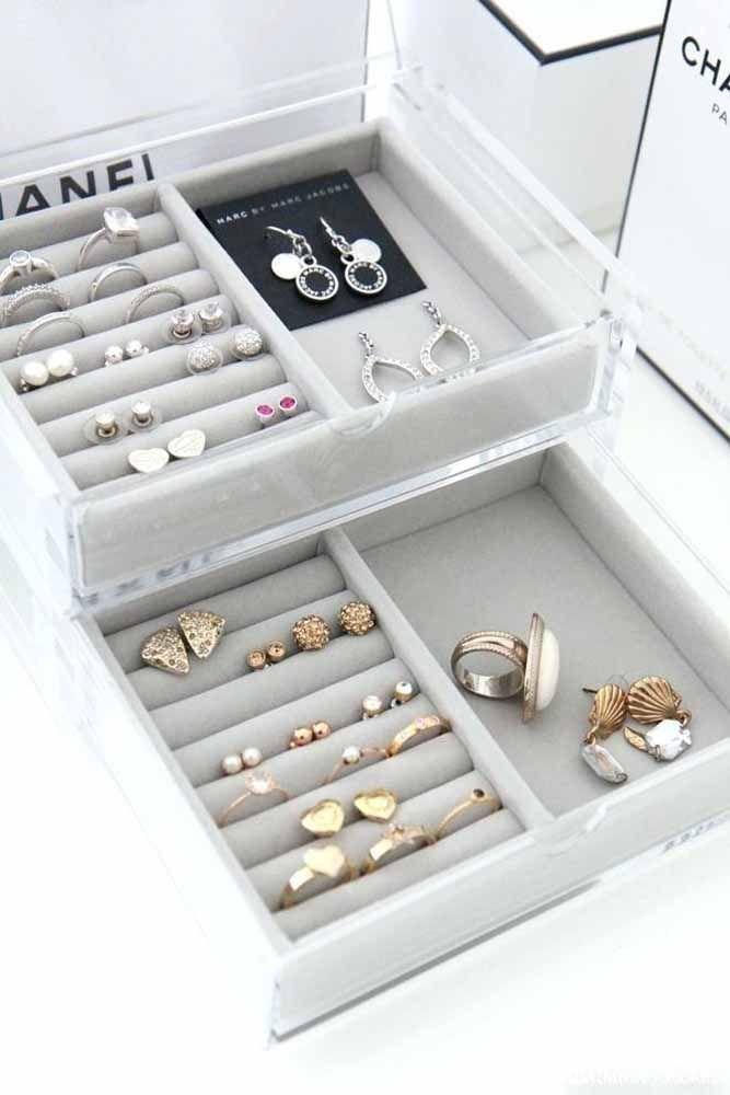 As joias merecem um local bonito e organizado só para elas