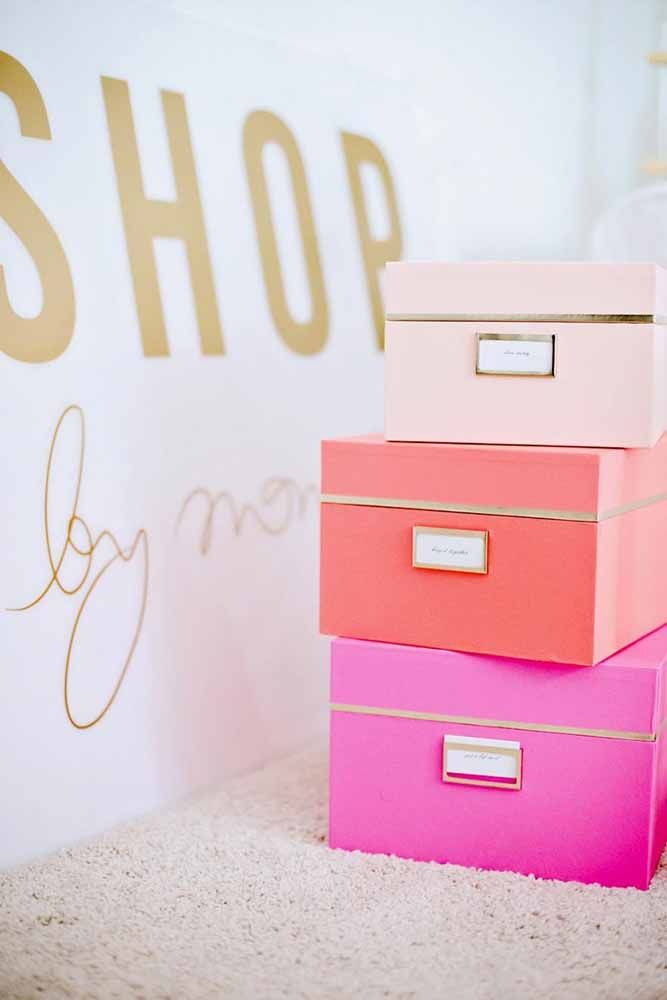 Lembre-se: caixa de papelão para objetos leves e pequenos