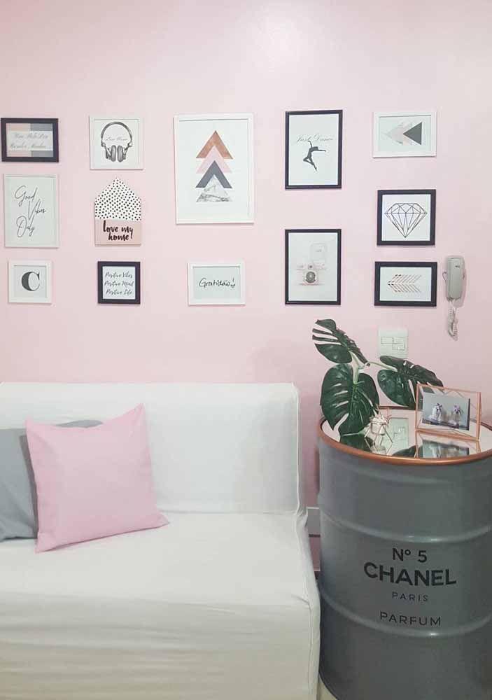 Versão cinza do tambor decorativo Chanel nº5: tem para todos os gostos