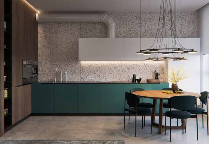 As decorações minimalistas também tem espaço para tonalidades diferenciadas, como o verde água