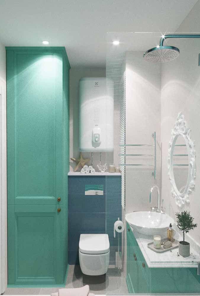 Ambientes românticos e delicados também podem ser criados a partir do verde água, nesse caso a combinação com o branco é essencial
