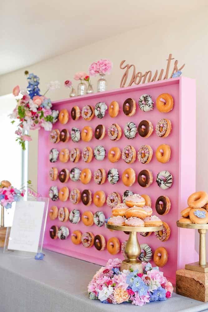 Humm, donuts! Esqueça a dieta no dia do chá de cozinha