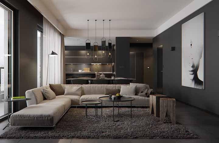 Decoração preta: veja ambientes decorados com a cor
