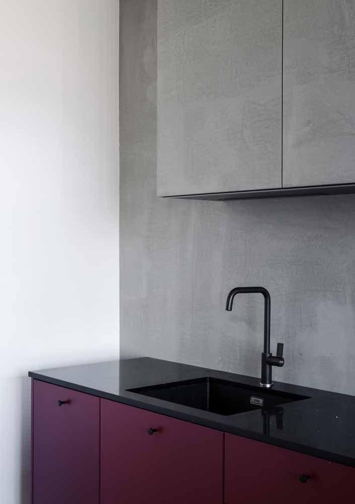 Silestone preto stellar para completar a proposta moderna e clean de decoração