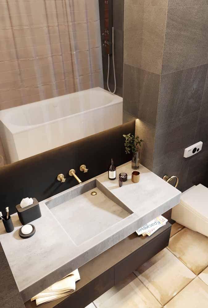 A Silestone também permite a produção de cubas esculpidas sob medida para deixar o seu banheiro ainda mais personalizado