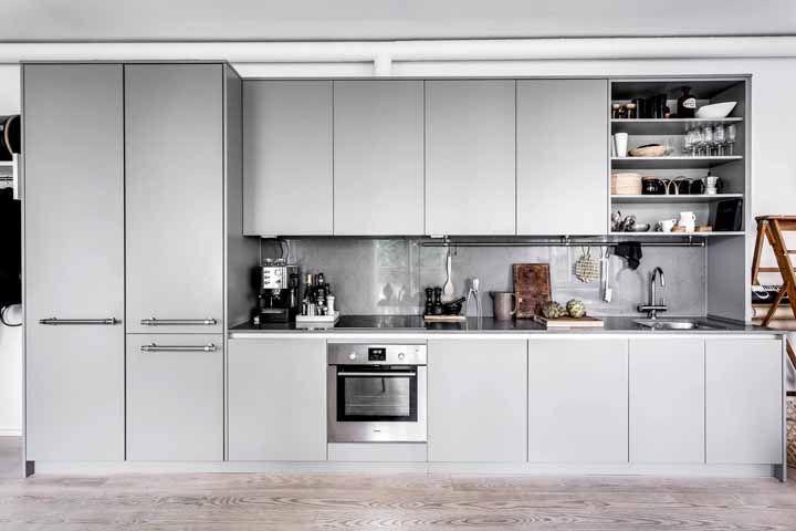 Um cinza quase metálico: a versatilidade da Silestone em todas as cores