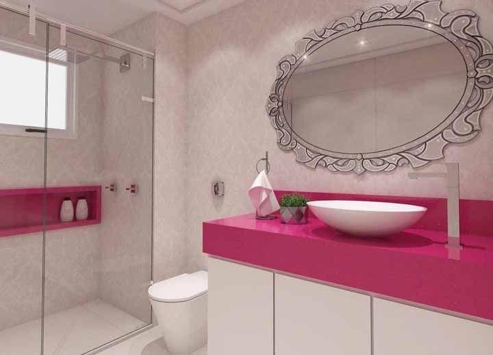 Rosa Stellar para um banheiro de boneca