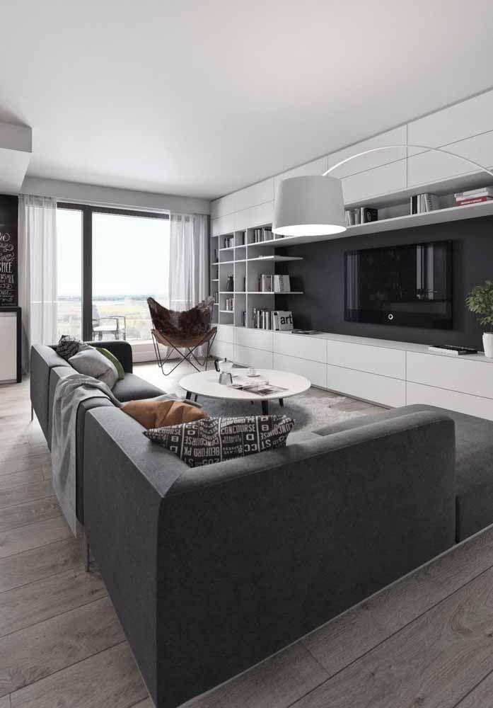 Um sofá de canto pode ser a solução que você estava procurando para sua sala grande