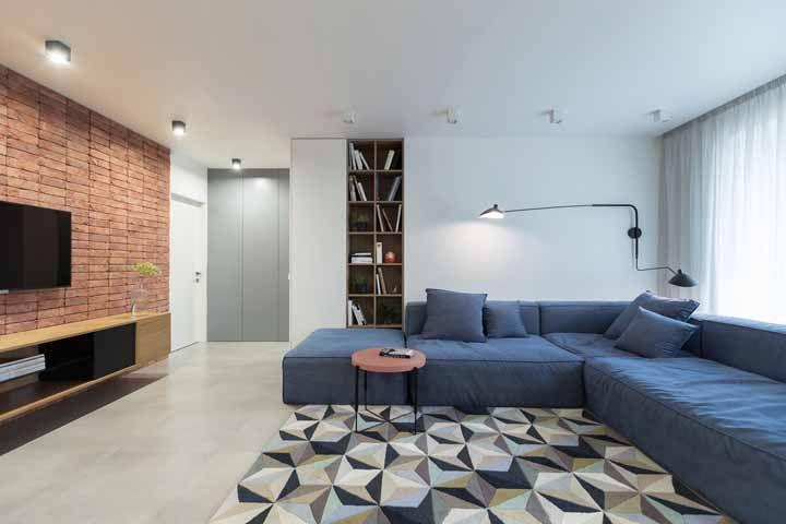 Estampas e texturas liberadas para a decoração de salas de estar grandes