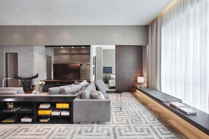E, por fim, você pode transformar uma sala em duas aproveitando melhor todo o espaço que ela tem para oferecer