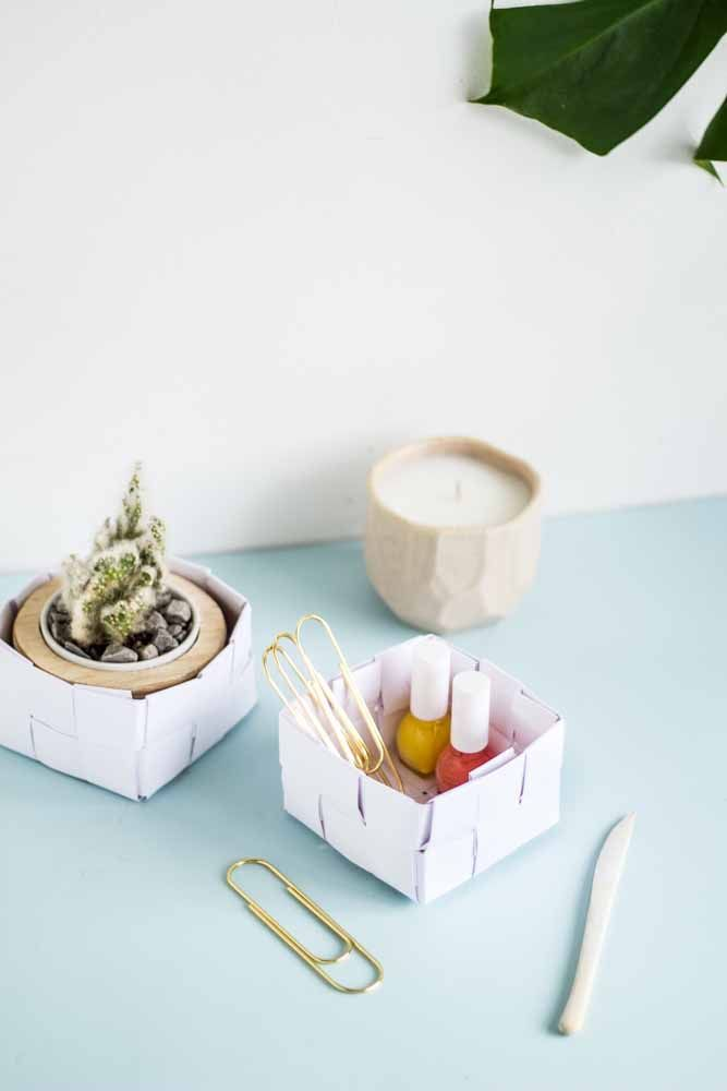 Mini caixinhas de papelão para guardar o que quiser