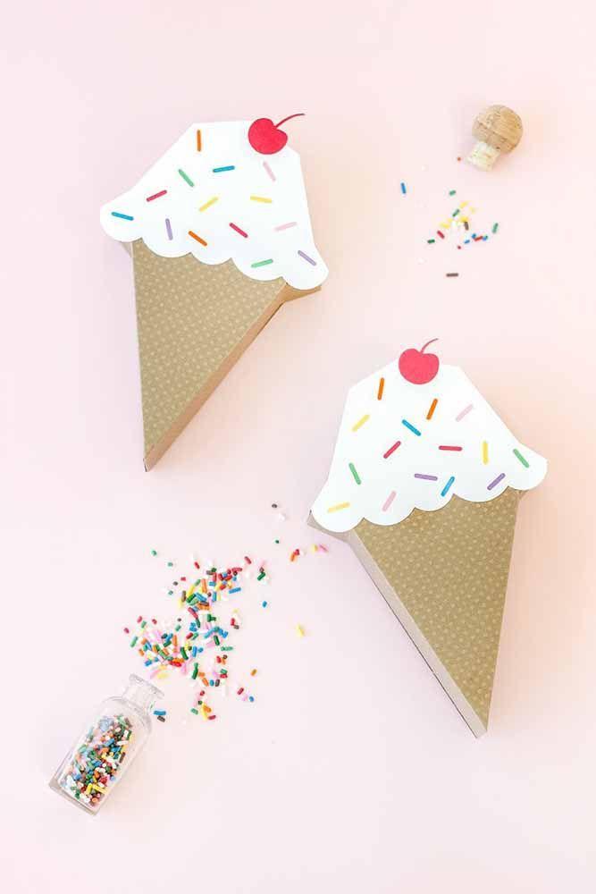 Sorvetes de papelão: dá para decorar uma festa temática com eles, não dá?