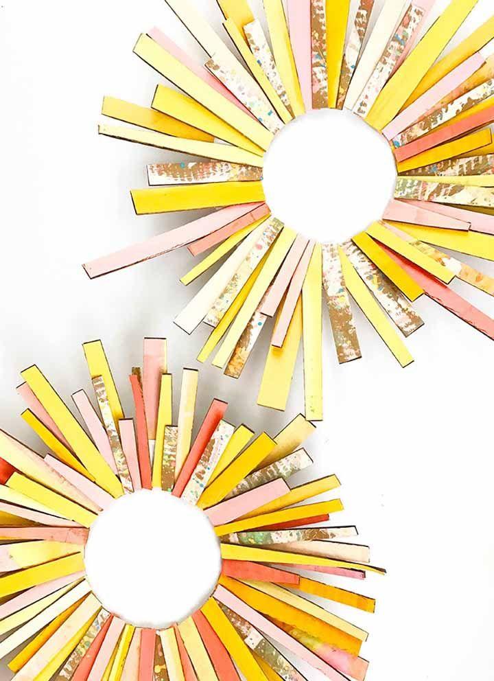Recortes despretensiosos de papelão deram vida a esse mini sol