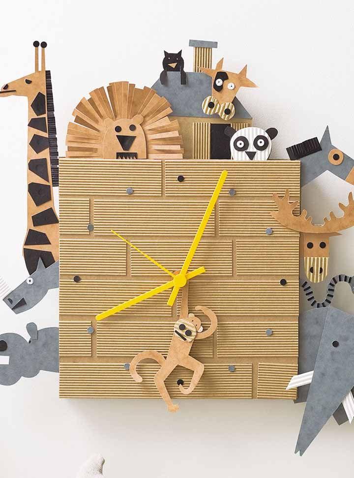 Um relógio divertido e bem diferente para as crianças aprenderem as horas