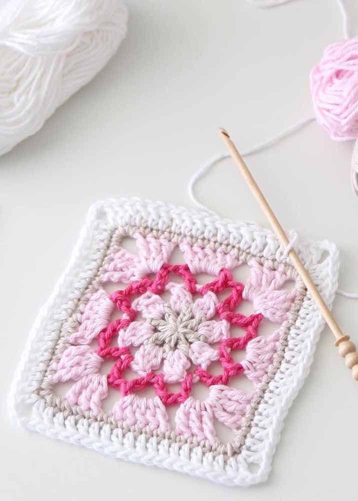 Lembre-se que as cores claras são as mais indicadas para quem está começando a fazer crochê
