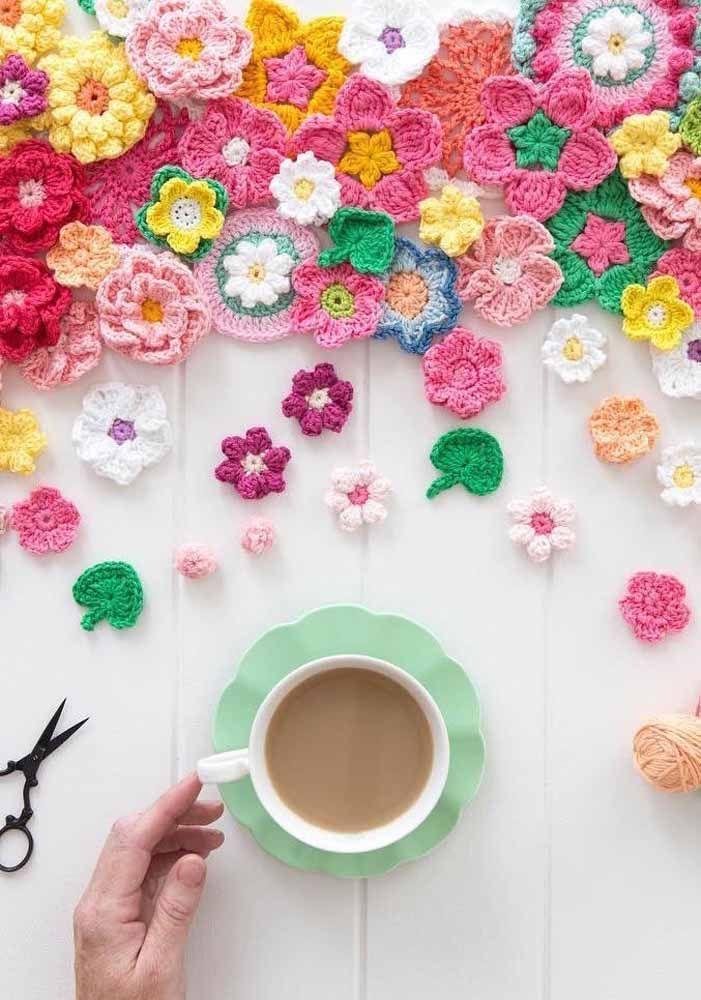 Uma mesa florida!