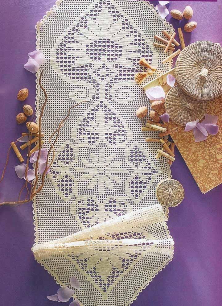 Caminho de mesa de crochê: mais do que um artesanato, uma arte