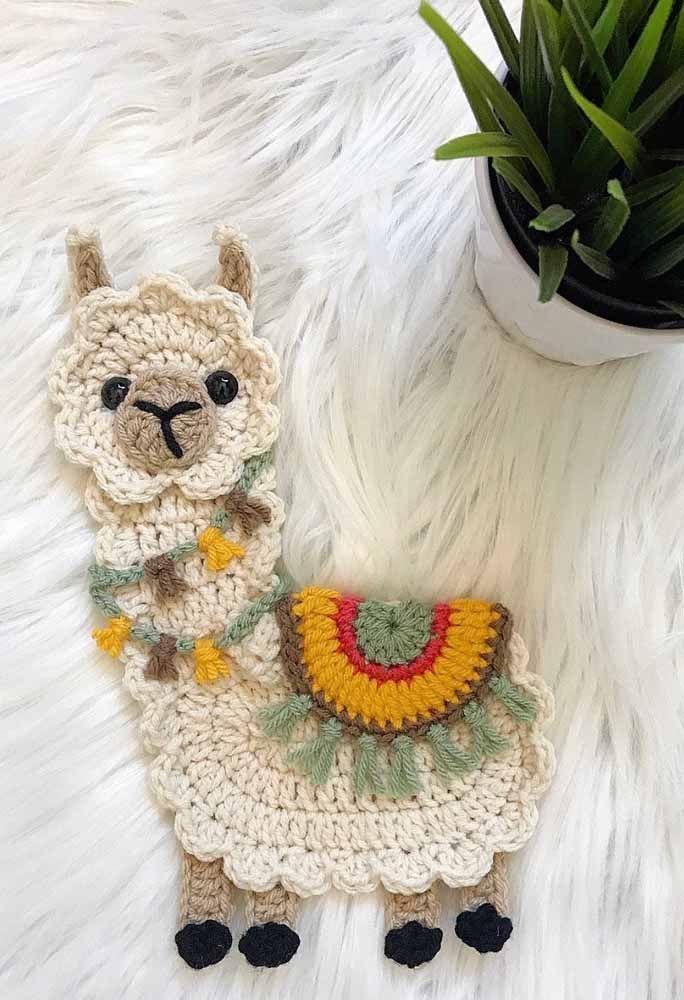 Uma lhama de crochê: essa é para se apaixonar!