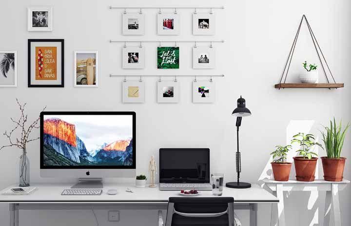 Para o home office o elemento água deve ser representado através de objetos de vidro, que estimula a comunicação com clientes e sócios