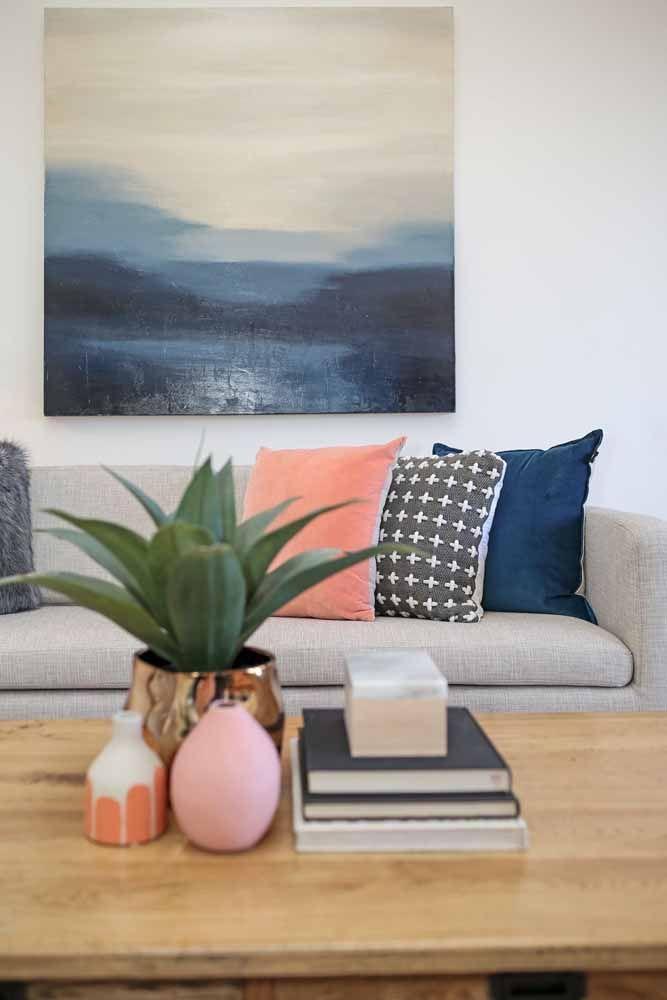 Na sala o rosa e azul transmitem paz, tranquilidade e uma espiritualidade angelical