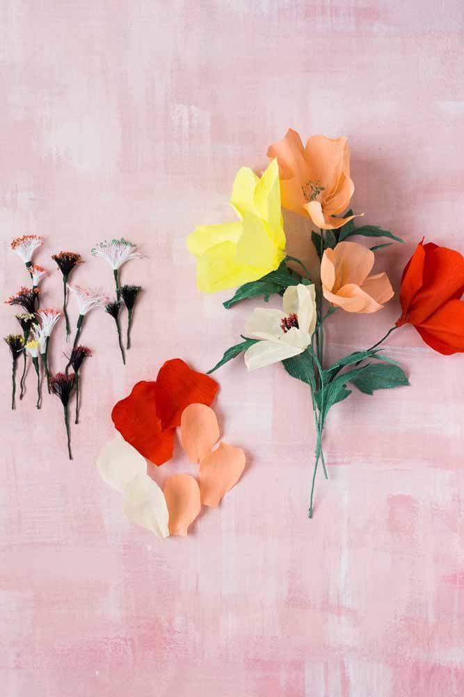Flor precisa de miolo, por isso preste muito atenção a esse detalhe importante