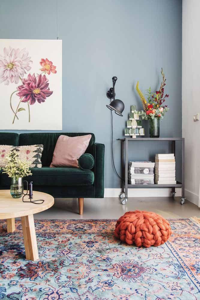 Jardim florido no chão da sala: as estampas dos tapetes persas são verdadeiras obras de arte