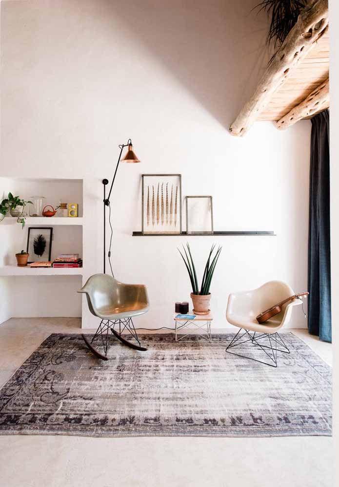 O tapete persa deixa esse ambiente muito mais acolhedor e confortável