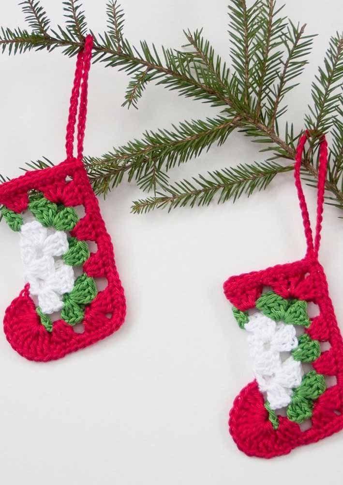 Surpreenda seus convidados com os enfeites de natal feitos de crochê