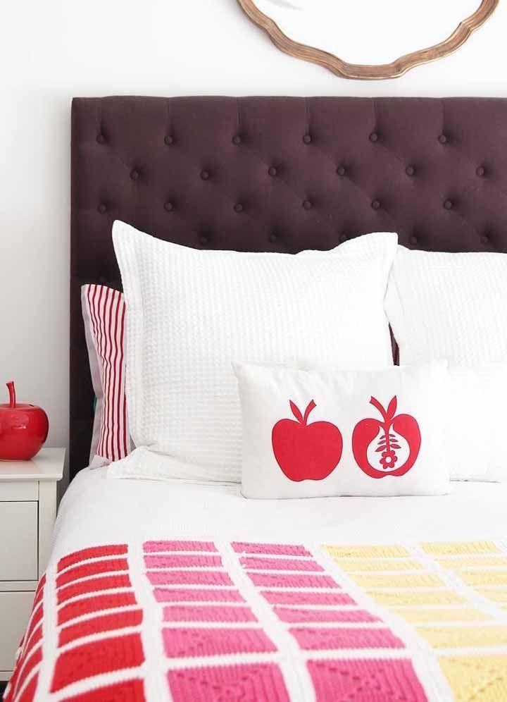 A decoração do quarto fica ainda mais especial quando você aposta em combinações