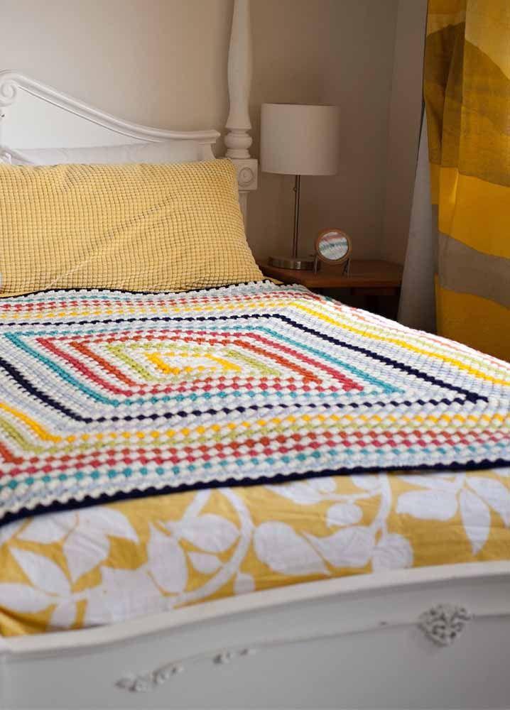 Essa colcha deixa a cama mais bonita