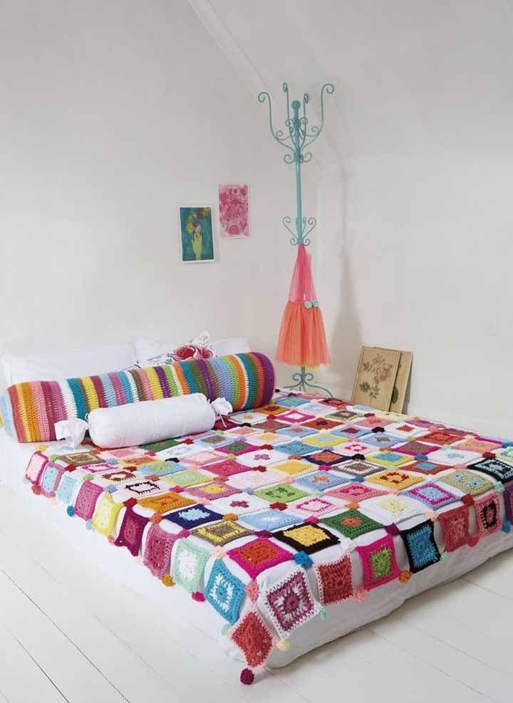 Olha que cama colorida