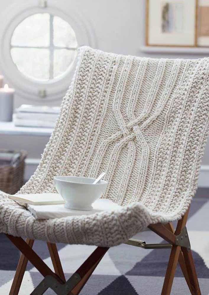 Faça uma capa confortável para a cadeira que você usa todos os dias
