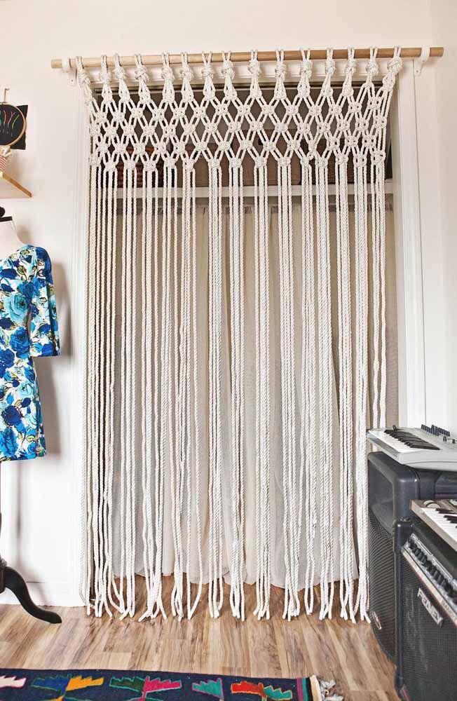 A cortina de crochê pode ser uma ótima opção de divisória