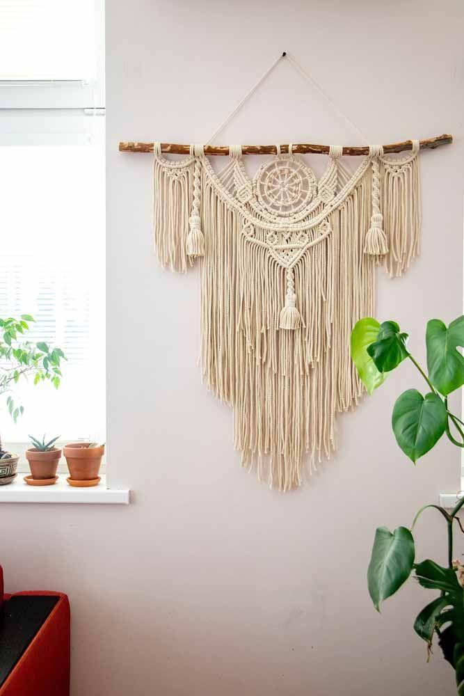 O crochê também fica ótimo em decorações rústicas