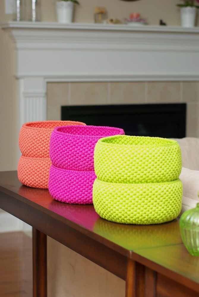 Olha a combinação das cores nesses objetos decorativos