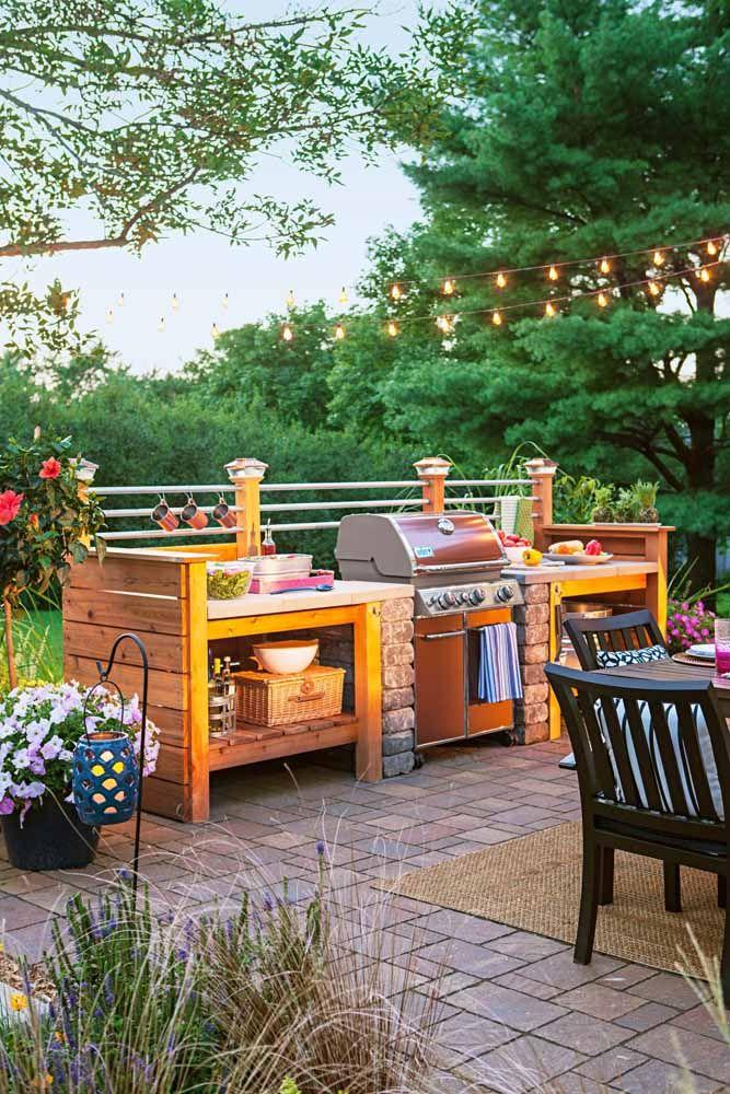 Uma área de churrasco para curtir a natureza no melhor estilo