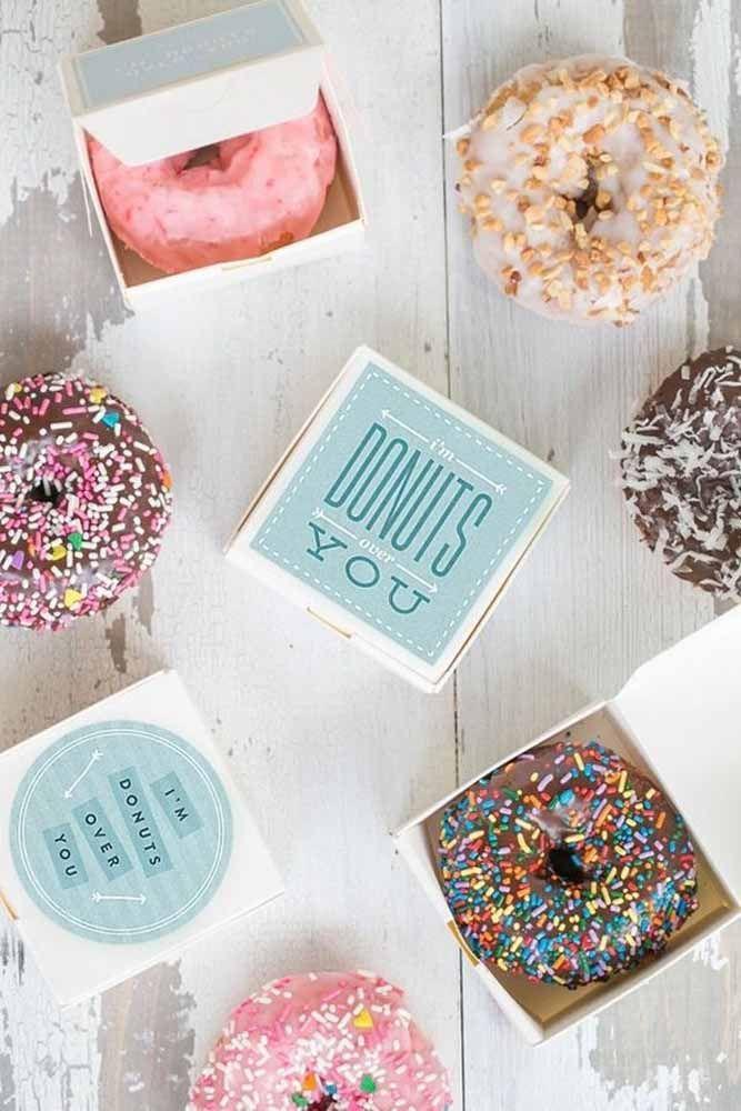 Quer outra opção inusitada? Aqui está: donuts!
