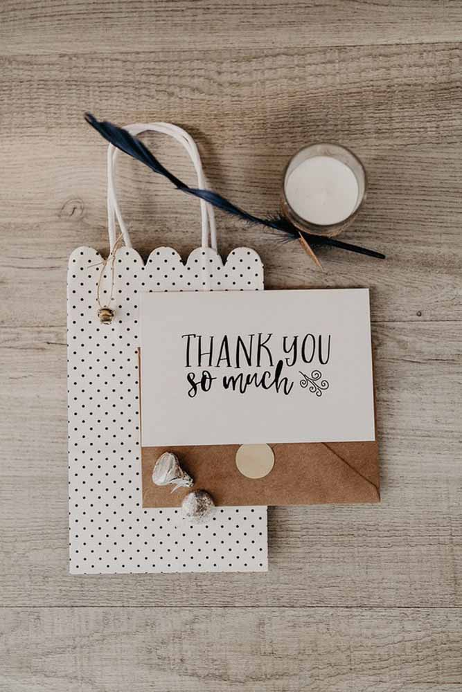 Não se esqueça de agradecer aos convidados pela presença