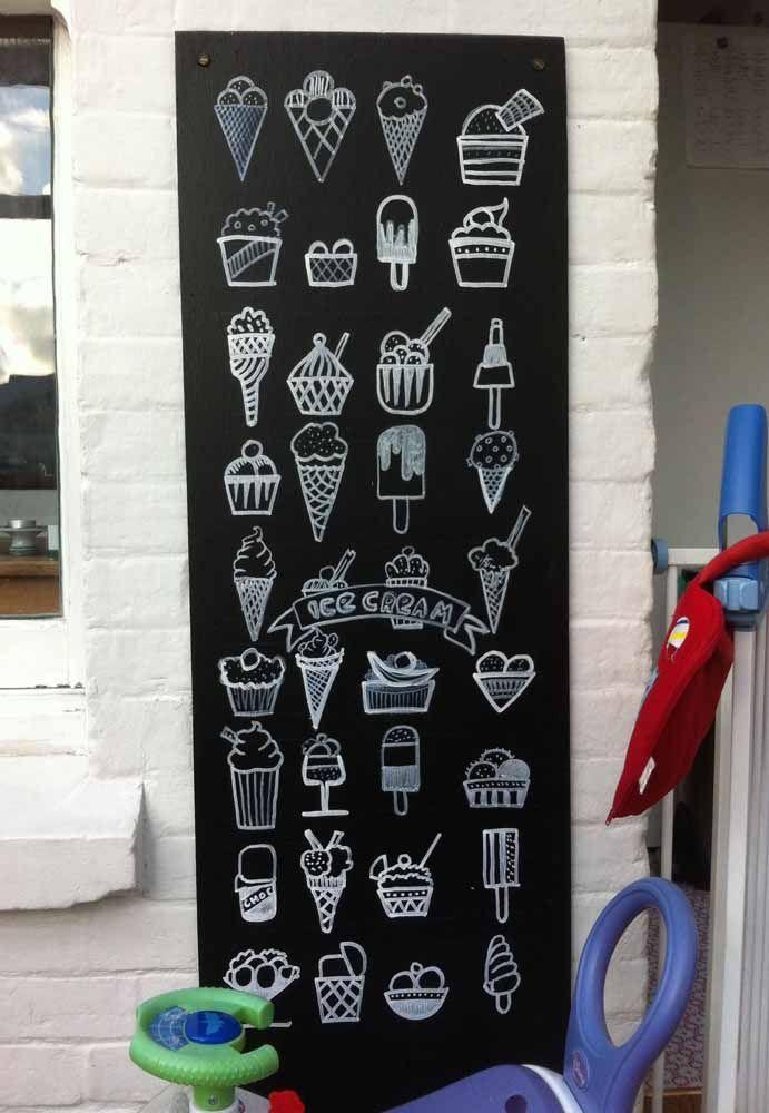 A inspiração para esse Chalkboard são sorvetes