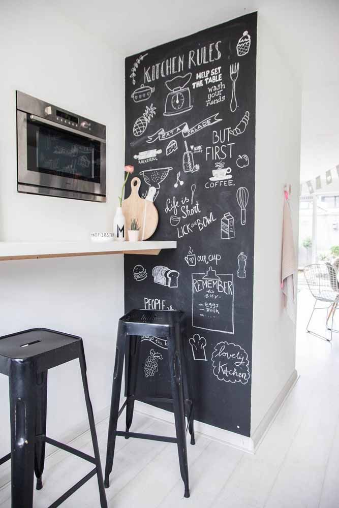 Quando o assunto é Chalkboard não existem regras: você é livre para criar o que quiser