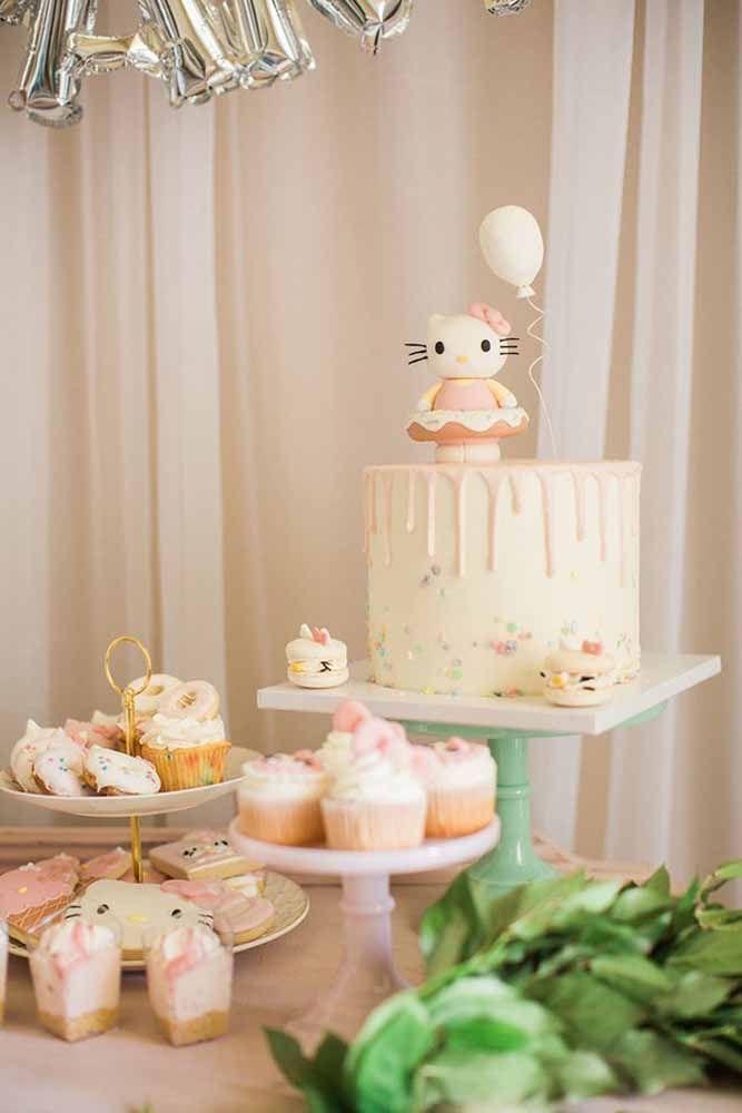 A Hello Kitty também confirmou presença na festa
