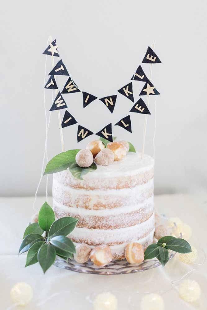 E o naked cake também tem sua beleza