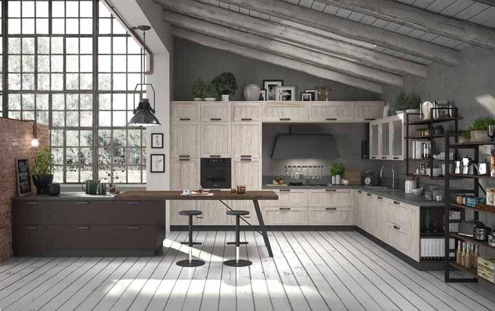 Dá para fazer uma cozinha linda gastando pouco, sabe como? Optando por uma versão modulada?