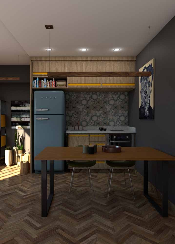 Compacta e modulada: ideal para cozinhas pequenas