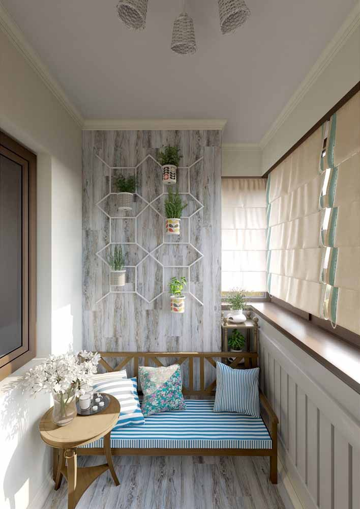 Faça da estrutura do jardim suspenso um elemento a mais na decoração