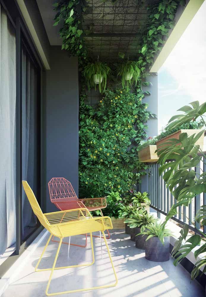 Monte um jardim suspenso no teto usando uma tela aramada, dessas que são vendidas em lojas de construção
