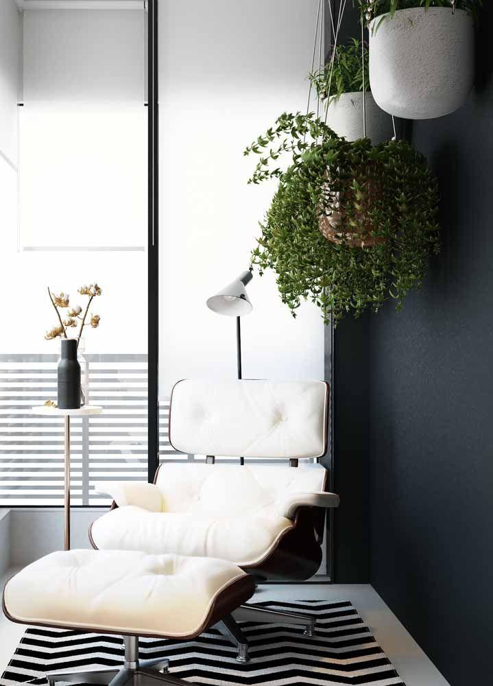 O lugar de descanso fica mais agradável e fresco na presença de plantas