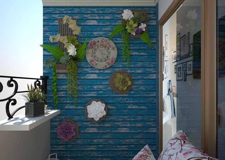 Os quadros de suculentas ficaram encantadores sobre o efeito de patiná da parede