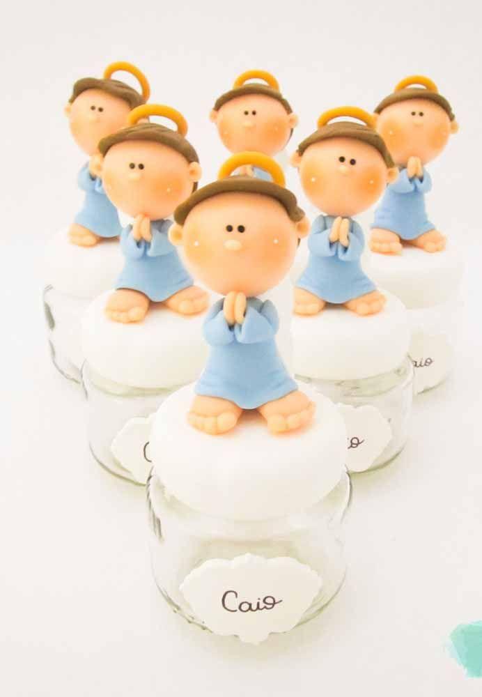 Anjinhos de biscuit: uma opção pra lá de fofa para a lembrancinha de maternidade